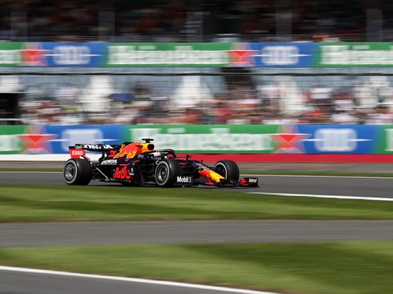 Max Verstappen geht von der Pole in Silverstone ins Rennen. Foto: Bradley Collyer/PA Wire/dpa
