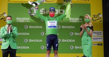Will mit einem Etappensieg in Paris an Belgiens Legende Eddy Merckx vorbeiziehen: Sprint-Superstar Mark Cavendish. Foto: Christophe Ena/AP/dpa