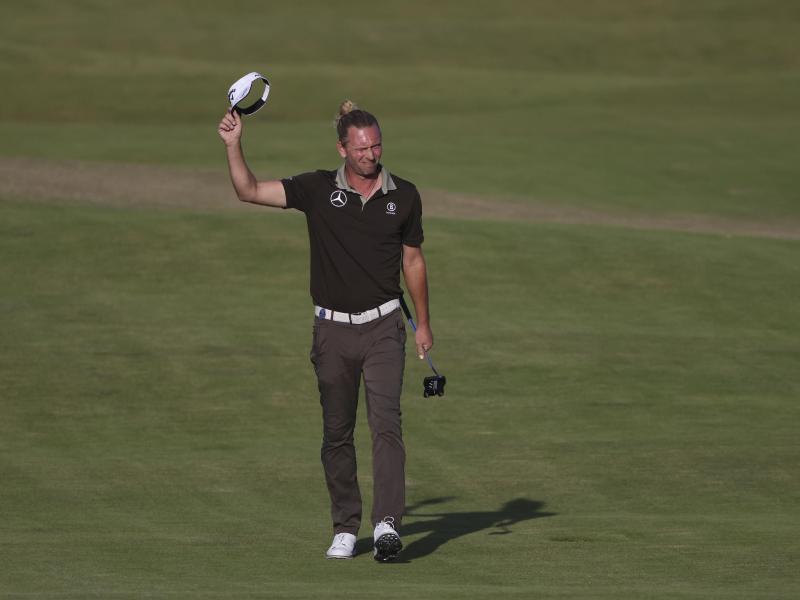 Bleibt bei den British Open auf Top-Ten-Kurs: Marcel Siem. Foto: Ian Walton/AP/dpa