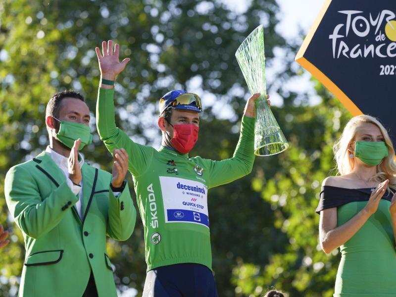 Verpasste den Sieg in Paris, gewann aber das Grüne Trikot des Punktbesten. Foto: Daniel Cole/AP/dpa
