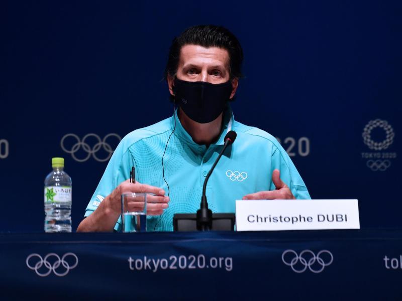 Christophe Dubi, IOC-Olympiadirektor, nimmt an einer Pressekonferenz im Hauptpressezentrum (MPC) teil. Foto: He Changshan/XinHua/dpa