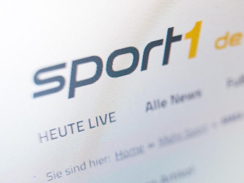Das Logo des TV-Senders Sport1 auf der Website. Foto: Lukas Schulze/dpa-Zentralbild/dpa