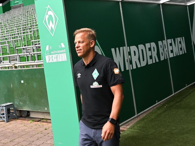 «Wir dürfen das Ziel Wiederaufstieg nicht nach vorne stellen», sagt der neue Werder-Trainer Markus Anfang. Foto: Carmen Jaspersen/dpa Pool/dpa