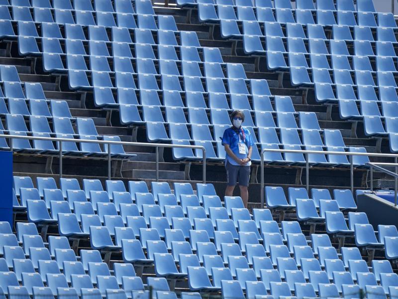 Bei den Olympischen Spielen in Tokio sind keine Zuschauer zugelassen. Foto: Jae C. Hong/AP/dpa