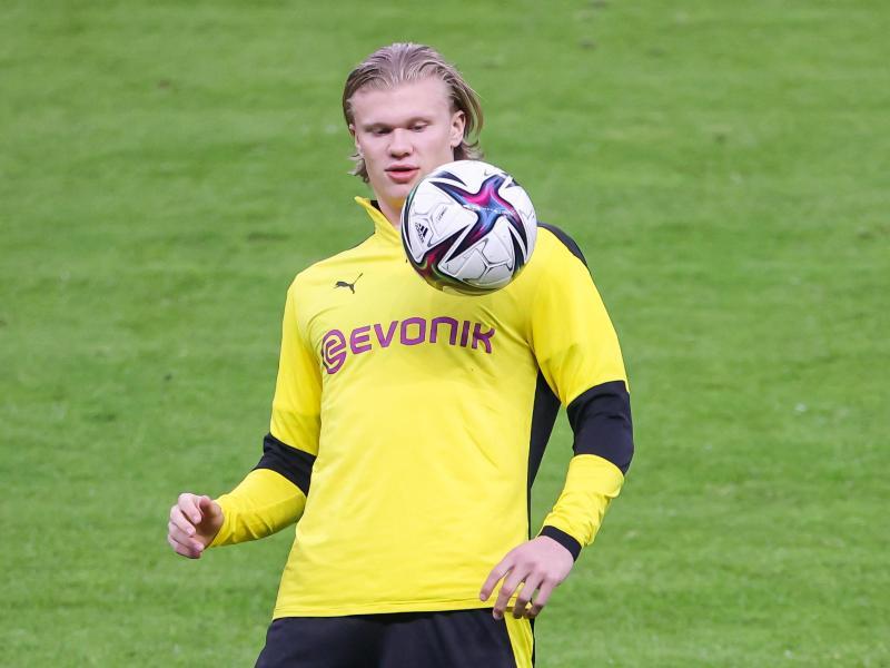 Auch BVB-Stürmer Erling Haaland wird umworben. Foto: Jan Woitas/dpa-Zentralbild/dpa