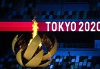 Es kann losgehen: Der japanische Tennis-Star Naomi Osaka hat das Feuer für die XXXII. Olympischen Spiele in Tokio entzündet. Foto: Sebastian Gollnow/dpa