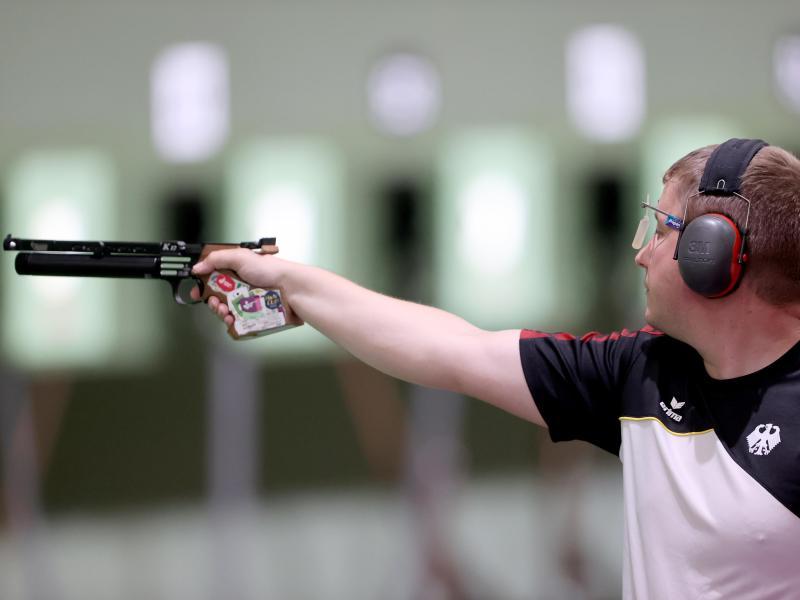 Wurde Fünfter im Finale mit der Luftpistole: Christian Reitz. Foto: Oliver Weiken/dpa