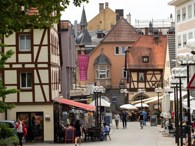 Die Obere Marktstraße in Bad Kissingen. Foto: Daniel Karmann/dpa