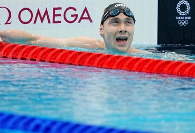 Henning Mühlleitner ist über 400 Meter Freistil auf den vierten Platz geschwommen. Foto: Michael Kappeler/dpa