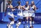 Die deutschen Hockey-Damen besiegten Großbritannien mit 2:1. Foto: John Minchillo/AP/dpa