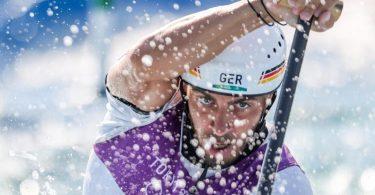 Steht im Halbfinale: Slalom-Kanute Sideris Tasiadis in Aktion. Foto: Jan Woitas/dpa-Zentralbild/dpa