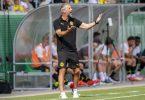 Der neue BVB-Trainer Marco Rose hofft nach der bisher holprigen Saisonvorbereitung auf Fortschritte. Foto: David Inderlied/dpa