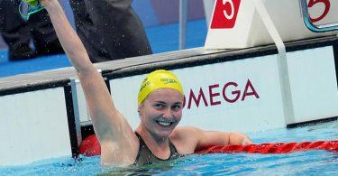Die Australierin Ariarne Titmus holte Gold über 400 Meter Freistil. Foto: Michael Kappeler/dpa