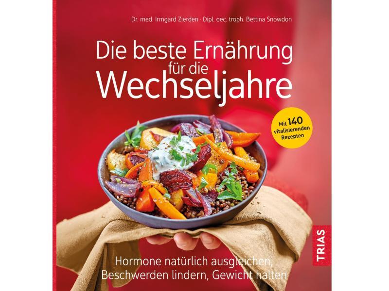 Irmgard Zierden, Bettina Snowdon: «Die beste Ernährung für die Wechseljahre», Trias-Verlag, 200 Seiten, 19,99 Euro, ISBN: 978-3432112022. Foto: Trias-Verlag/dpa-tmn