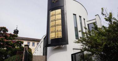 """Die Synagoge """"Beith Shalom"""" in Speyer. Die Unesco hat das jüdische Kulturgut in Mainz, Speyer und Worms als neues Welterbe ausgezeichnet. Foto: Uwe Anspach/dpa"""