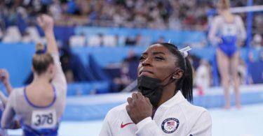 Simone Biles musste den Wettkampf vorzeitig abbrechen. Foto: Gregory Bull/AP/dpa