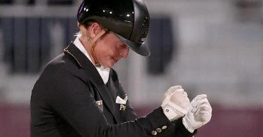 Dressurreiterin Isabell Werth wurde in Tokio zum siebten Mal Olympiasiegerin. Foto: Friso Gentsch/dpa