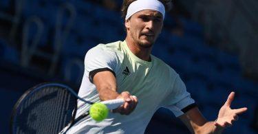 Alexander Zverev steht im Viertelfinale des olympischen Tennisturniers. Foto: Marijan Murat/dpa
