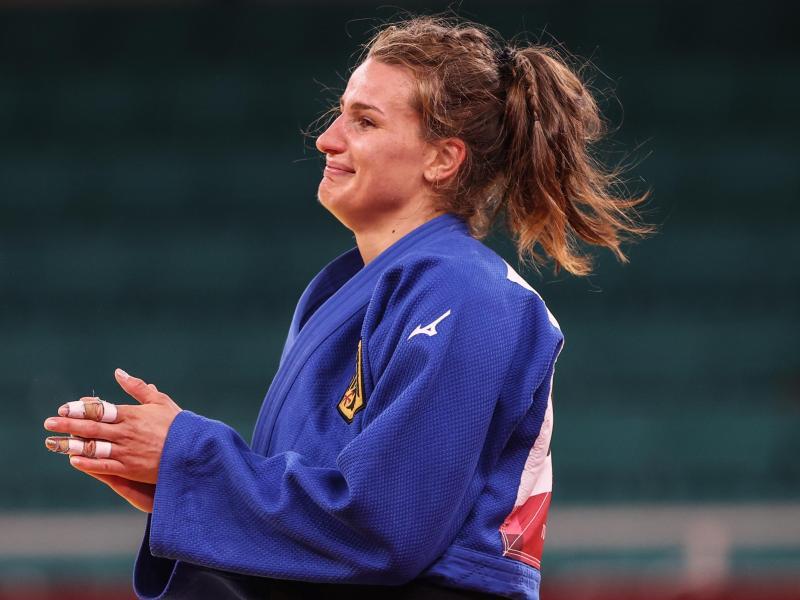 Gewann im Kampf um Platz drei Bronze: Judoka Anna-Maria Wagner. Foto: Oliver Weiken/dpa
