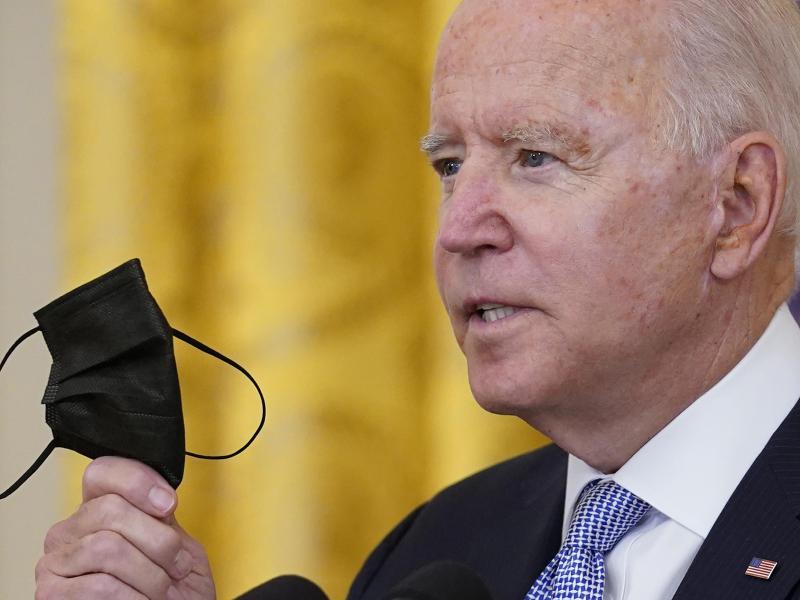 US-Präsident Joe Biden hat die Einführung neuer Impf-Regeln für Angestellte der Regierung angekündigt. Foto: Susan Walsh/AP/dpa