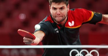 Dimitrij Ovtcharov spielt in Tokio um Olympia-Bronze. Foto: Friso Gentsch/dpa