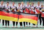 Der Deutschland-Achter hat in Tokio Olympia-Silber geholt. Foto: Jan Woitas/dpa-Zentralbild/dpa