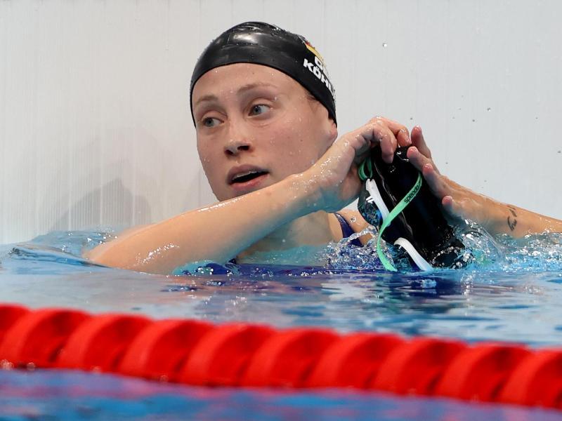 Sarah Köhler schlug im Finale über 800 Meter Freistil als Siebte an. Foto: Oliver Weiken/dpa