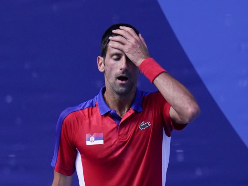 Reist ohne Einzel-Medaille aus Tokio ab: Novak Djokovic. Foto: Seth Wenig/AP/dpa