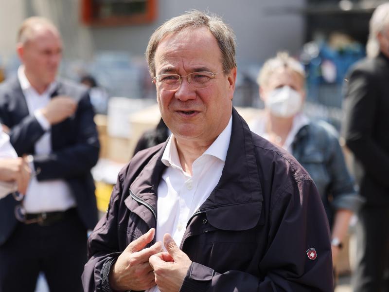 Unionskanzlerkandidat Armin Laschet verliert in Umfrage weiter. Foto: Oliver Berg/dpa