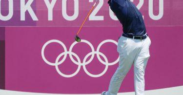 Golfer Xander Shauffele aus den USA holte Gold in Tokio. Foto: Liu Dawei/XinHua/dpa