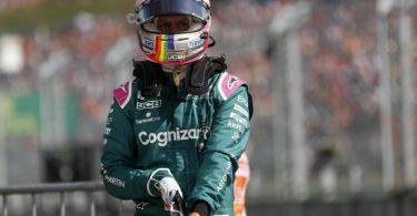 Sebastian Vettel vom Team Aston Martin wurde beim Großen Preis von Ungarn disqualifiziert. Foto: David W Cerny/Pool Reuters/AP/dpa