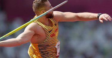 Johannes Vetter hat sich für das Speerwurf-Finale in Tokio qualifiziert. Foto: Michael Kappeler/dpa
