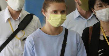 Kristina Timanowskaja plant in Europa Zuflucht zu suchen. Foto: Koji Sasahara/AP/dpa