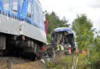 Ein aus München kommender Expresszug ist in Tschechien mit einem Personenzug zusammengestoßen. Foto: Chaloupka Miroslav/CTK/dpa