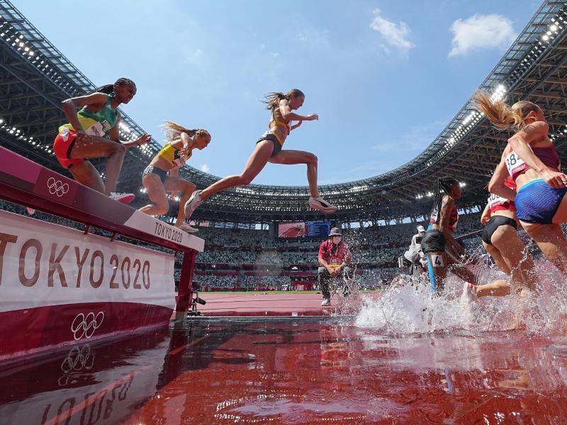 Gesa Krause (M) lief in 9:14,00 Minuten nur auf den fünften Platz. Foto: Michael Kappeler/dpa