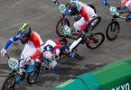US-Star Connor Fields war beim BMX-Rennen in Tokio schwer gestürzt. Foto: Daniel Lea/CSM via ZUMA Wire/dpa