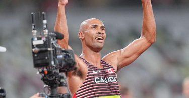 Holte sich mit olympischem Rekord Gold: Zehnkämpfer Damian Warner. Foto: Michael Kappeler/dpa