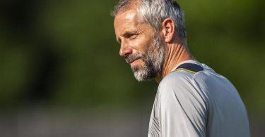 Gibt in Wiesbaden sein Pflichtspiel-Einstand als BVB-Coach: Marco Rose. Foto: David Inderlied/dpa