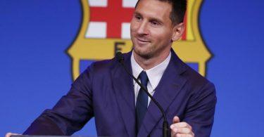 Hatte bei seinem Abschied vom FC Barcelona den französischen Club Paris Saint-Germain als ein mögliches Ziel bezeichnet: Lionel Messi. Foto: Joan Monfort/AP/dpa