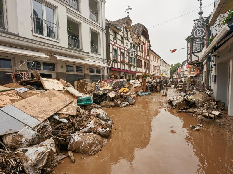 Hochwasserschäden in Bad Neuenahr-Ahrweiler. Foto: Thomas Frey/dpa