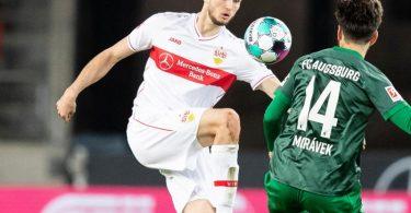 Der VfB Stuttgart muss weiter auf Sasa Kalajdzic (l) verzichten. Foto: Tom Weller/dpa