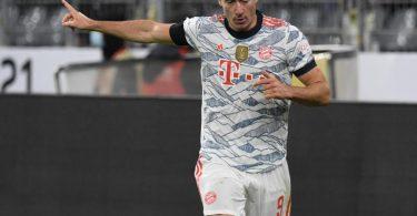 Bayern-Stürmer Robert Lewandowski trifft und trifft und trifft. Foto: Bernd Thissen/dpa