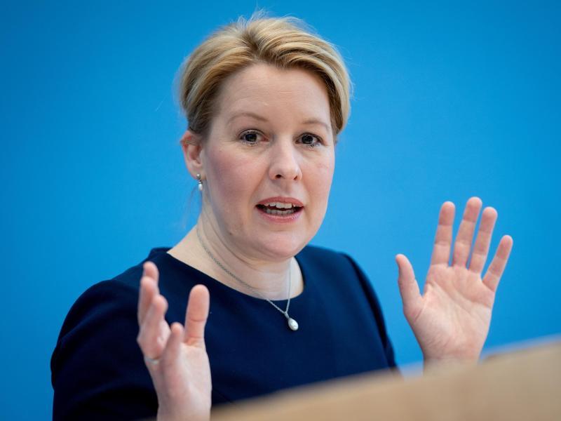 Franziska Giffey (SPD), ehemalige Bundesministerin für Familie, Senioren, Frauen und Jugend. Foto: Kay Nietfeld/dpa/Archivbild