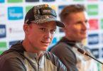 Teamkollege von Greipel und auch in Stralsund am Start: Chris Froome (l). Foto: Bernd Thissen/dpa