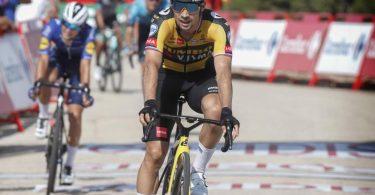 Holte sich seinen zweiten Etappensieg bei der 76. Spanien-Rundfahrt: Primoz Roglic. Foto: Roth/dpa