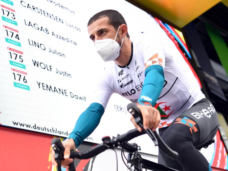 Geht bei der Deutschland Tour für das Team Bike Aid an den Start: Azzedine Lagab. Foto: Bernd Thissen/dpa