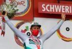 Pascal Ackermann siegte zum Auftakt der Deutschland Tour. Foto: Bernd Thissen/dpa