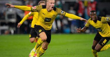 Stürmer Erling Haaland war einmal mehr der Dortmunder Matchwinner. Foto: Marius Becker/dpa