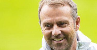 Hansi Flick gibt am Donnerstag beim Länderspiel gegen Liechtenstein sein Debüt als Bundestrainer. Foto: Tom Weller/dpa