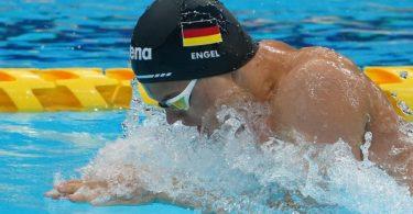 Taliso Engel (Deutschland) in Aktion. Engel ist einen neuen Weltrekord geschwommen. Foto: Marcus Brandt/dpa